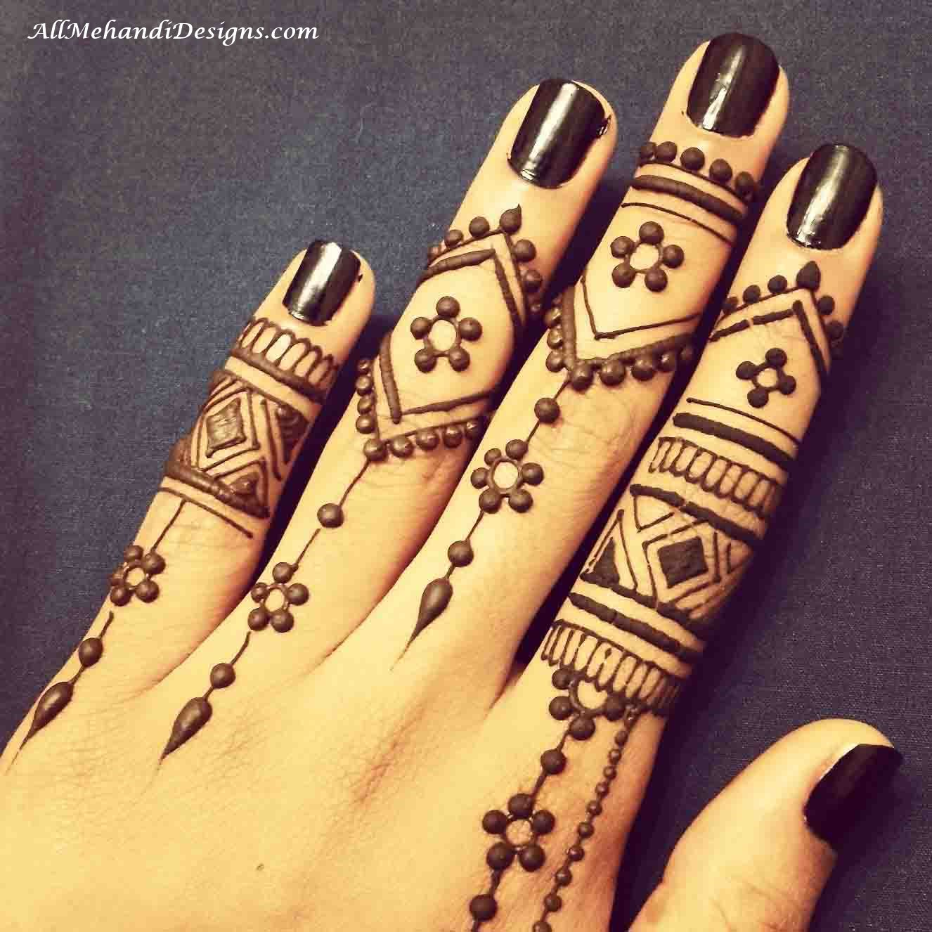 1326x1326 1000 Easy Finger Mehndi Designs