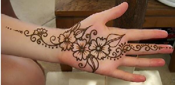 600x293 Easy And Simple Henna Designs For Palms