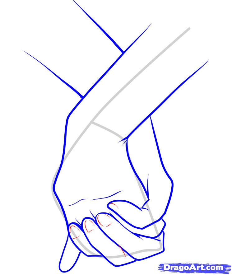 746x884 Drawings Of Hands How To Draw Holding Hands Step 11
