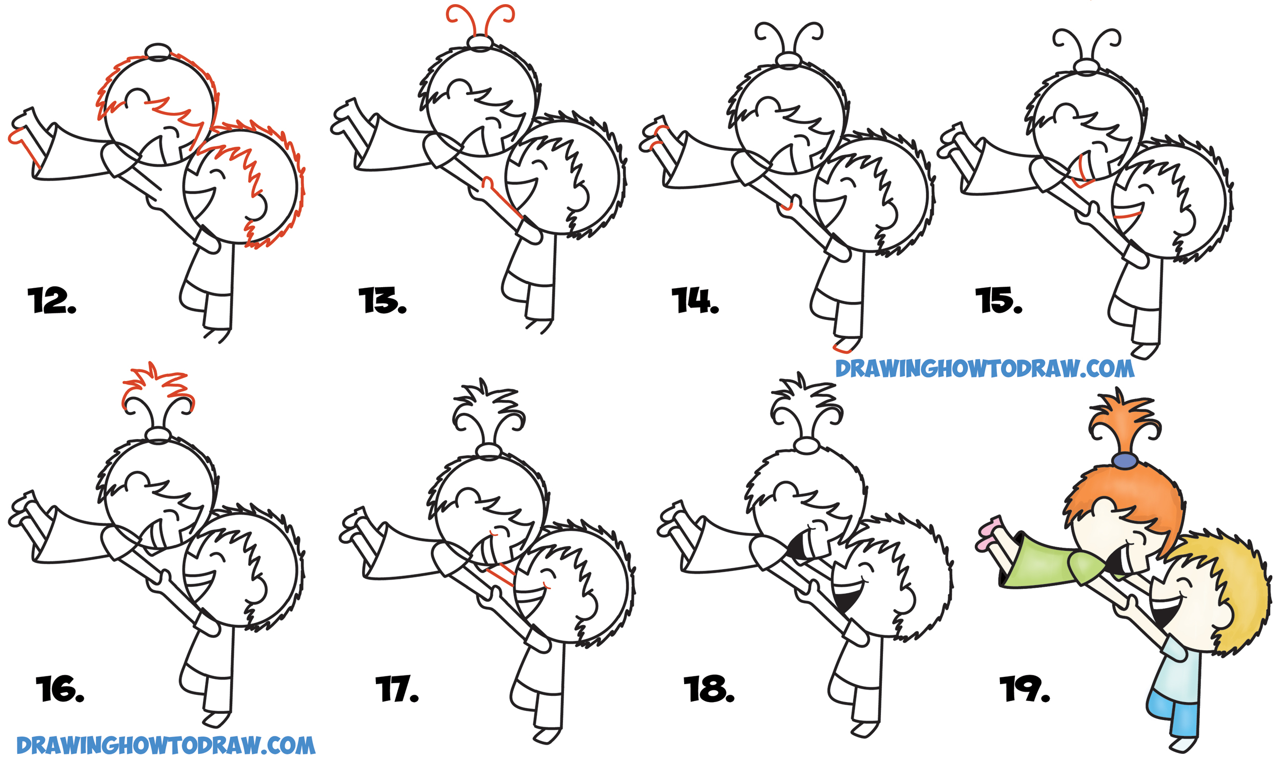 2500x1478 How To Draw A Cute Kawaii Chibi Couple In Love Spinning Each Other