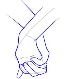 255x302 How To Draw Holding Hands Step 11 Art Guides