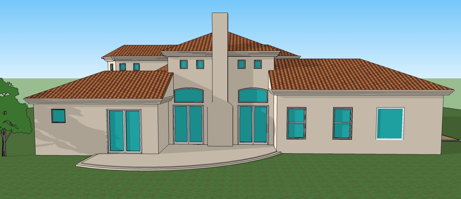 Simple house design drawing