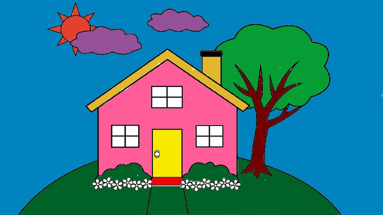 Simple House Drawing For Kids at