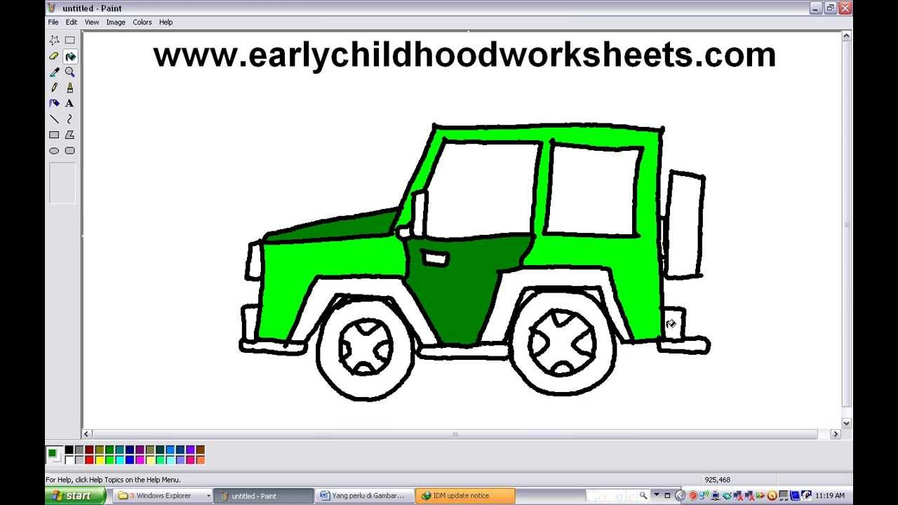 1280x720 How To Draw A Jeep Car Easy Step By Step