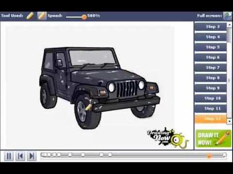 480x360 How To Draw A Jeep Wrangler