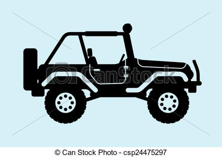 450x319 Jeep Silhouette. Gin Suv Silhouette With An Open Top Eps Vectors