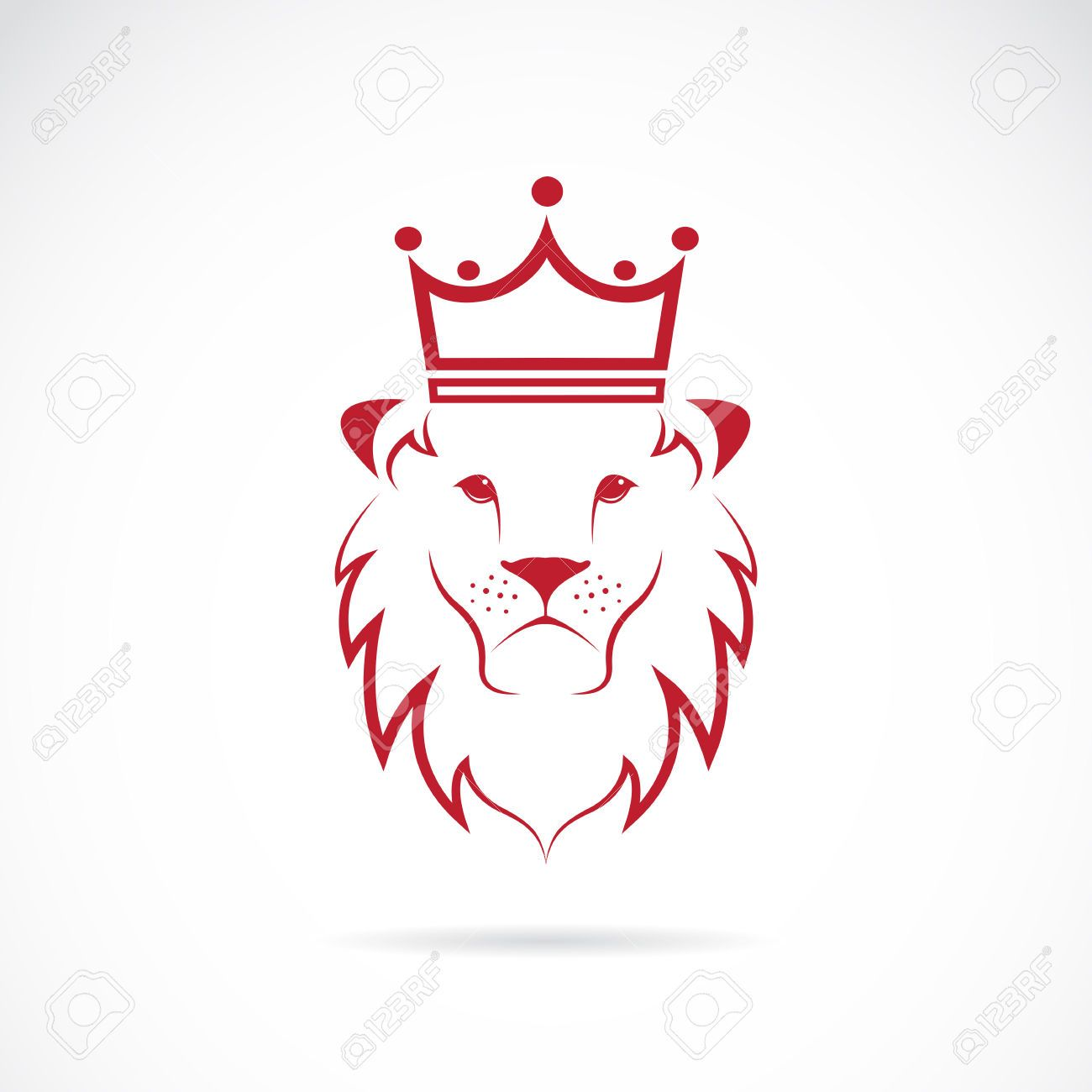 1300x1300 29032311 Stock Vector Lion Crowned