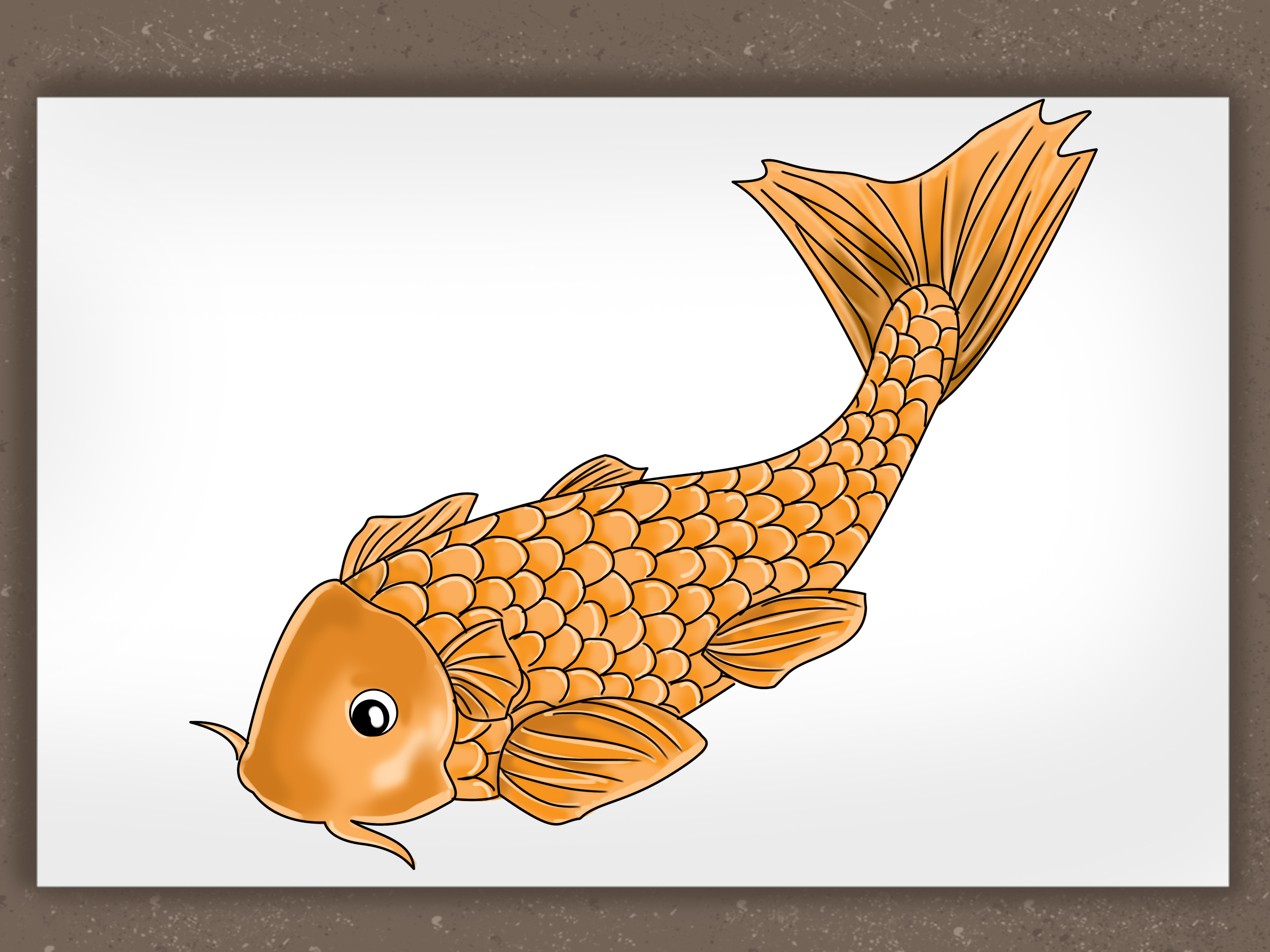 3200x2400 How To Draw A Koi Fish 7 Steps (With Pictures)