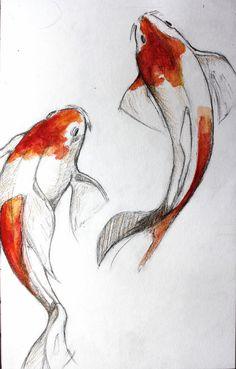 236x369 Koi Fish Drawings In Pencil