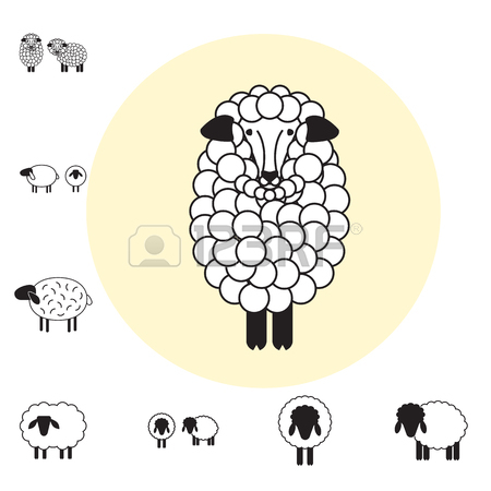450x450 Sheep Or Ram Icon, Logo, Template, Pictogram. Trendy Simple Lamb