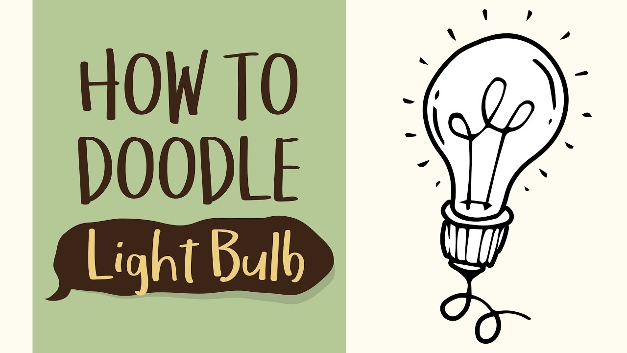 1280x720 How To Draw A Simple Light Bulb Idea (Easy Step By Step Drawing