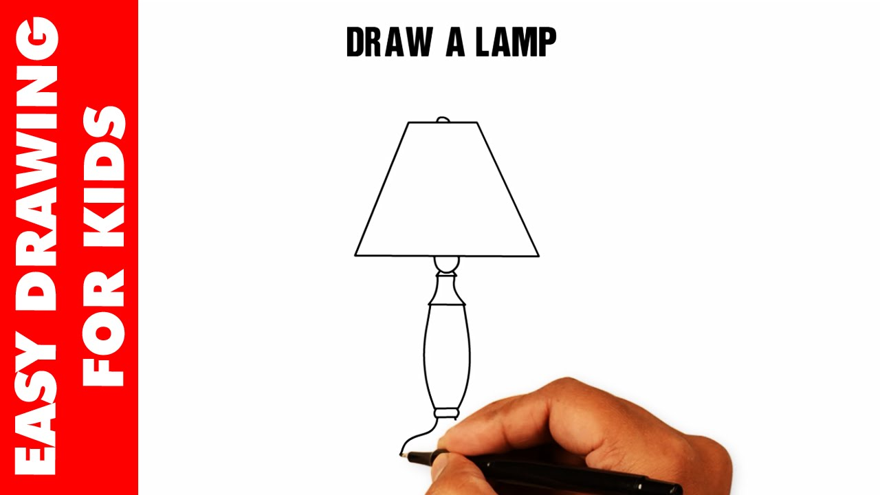 1280x720 How To Draw A Lamp Easy And Simple For Kids In 30s