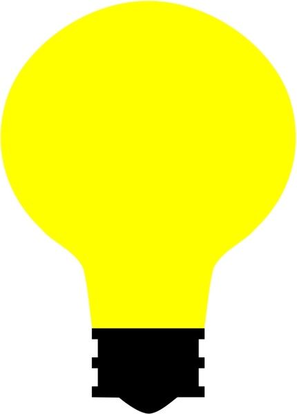 430x600 Simple Light Bulb Free Vector In Open Office Drawing Svg ( Svg