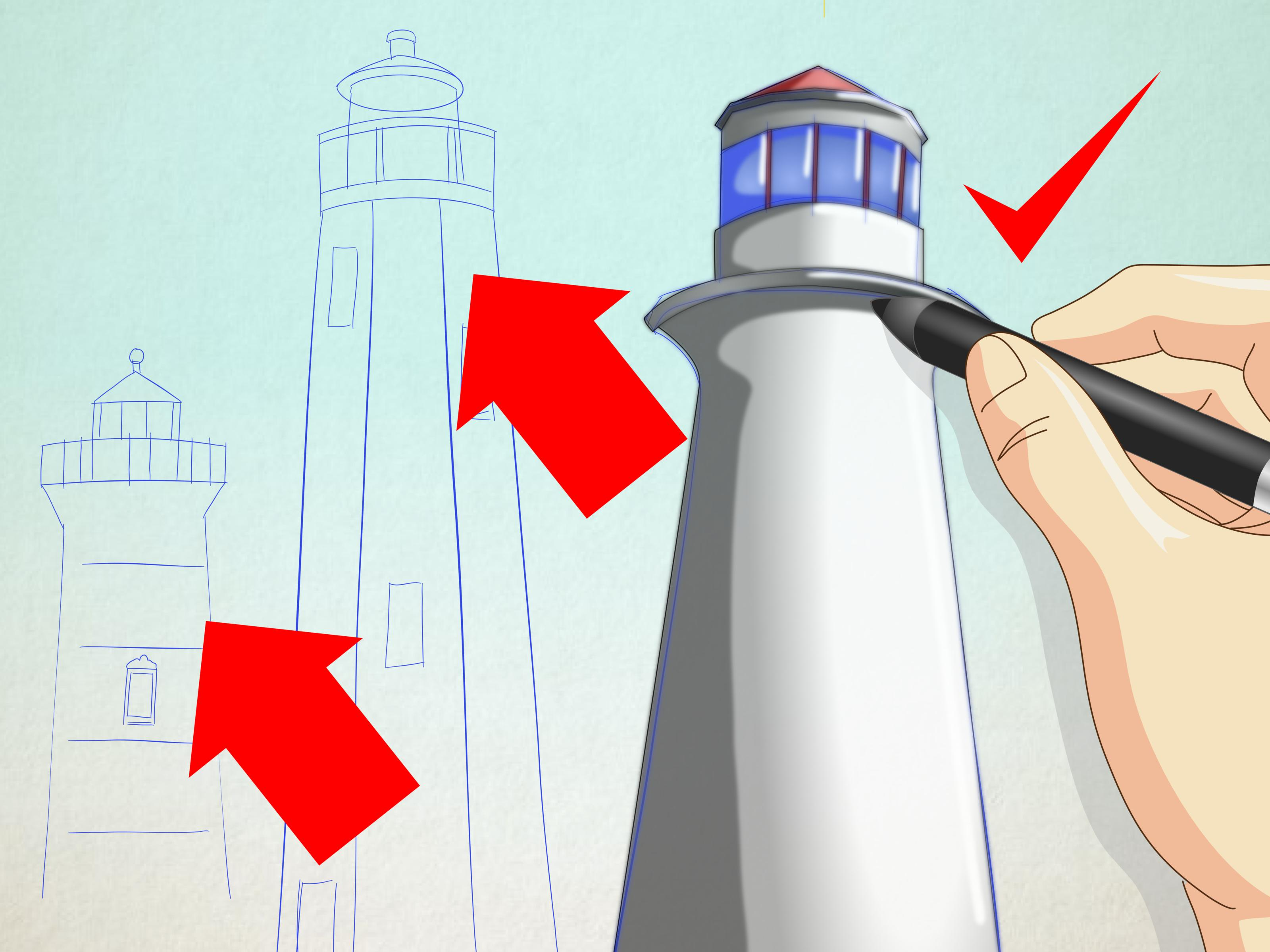 3200x2400 How To Draw A Lighthouse 7 Steps (With Pictures)