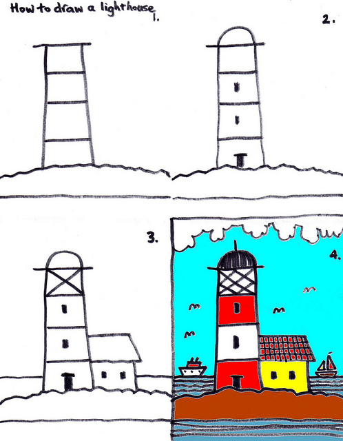 498x640 How To Draw A Lighthouse By Traqair57, Via Lighthouse