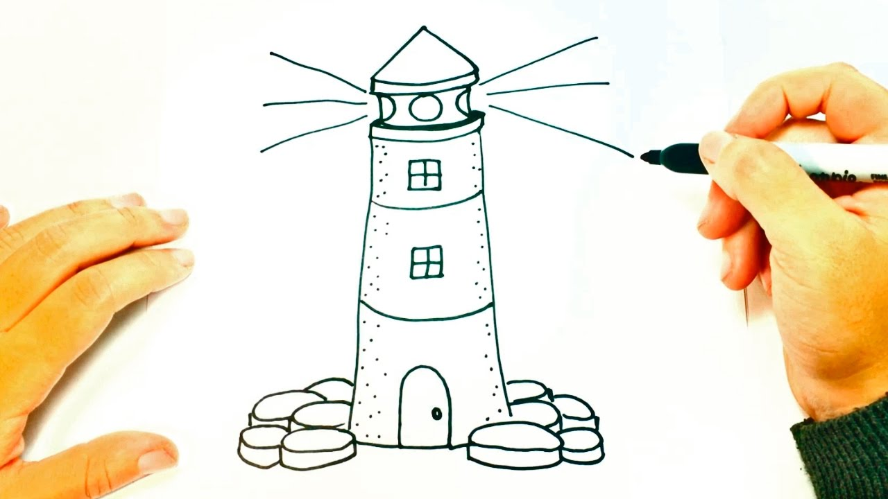 1280x720 How To Draw A Lighthouse For Kids Lighthouse Easy Draw Tutorial