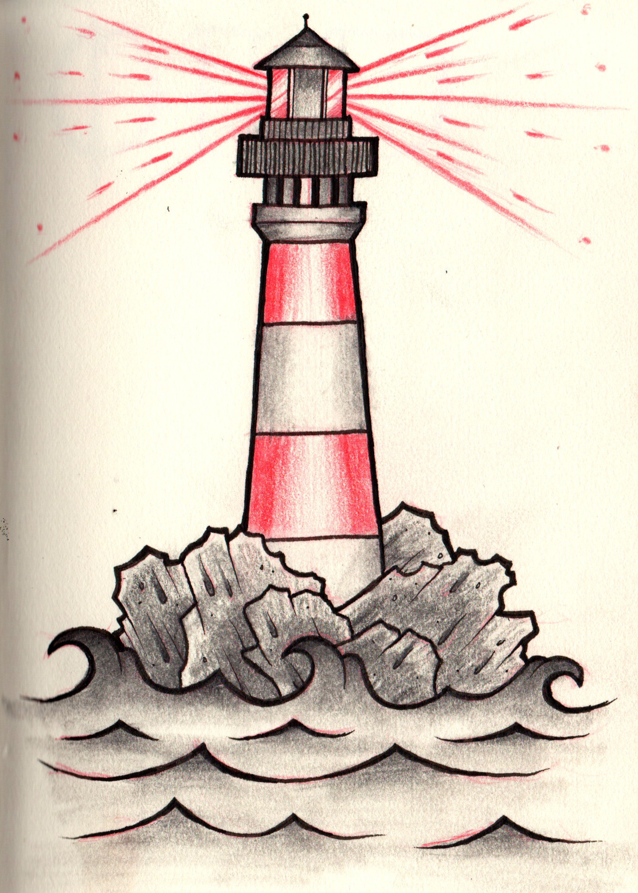 1280x1792 Simple Lighthouse Tattoo