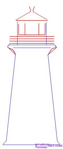 221x520 Step 2. How To Draw A Simple Lighthouse Shaping Hearts Ot