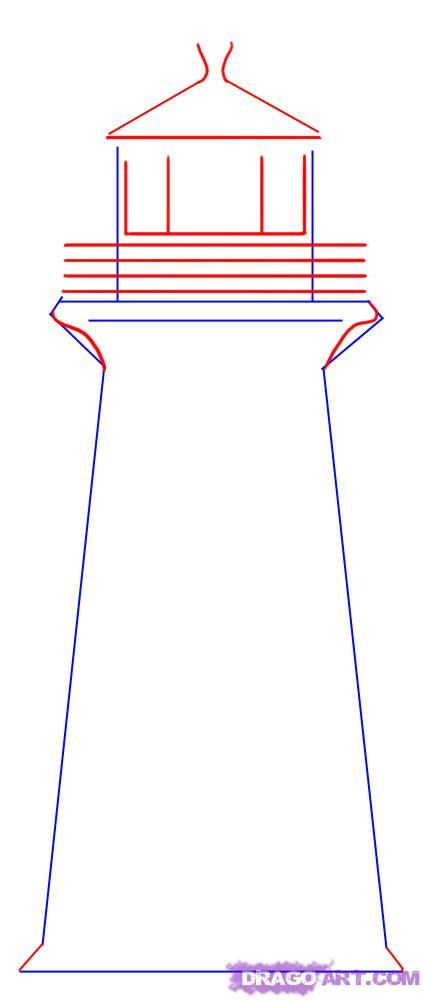 425x1000 Step 2. How To Draw A Simple Lighthouse Drawing Ideas And I
