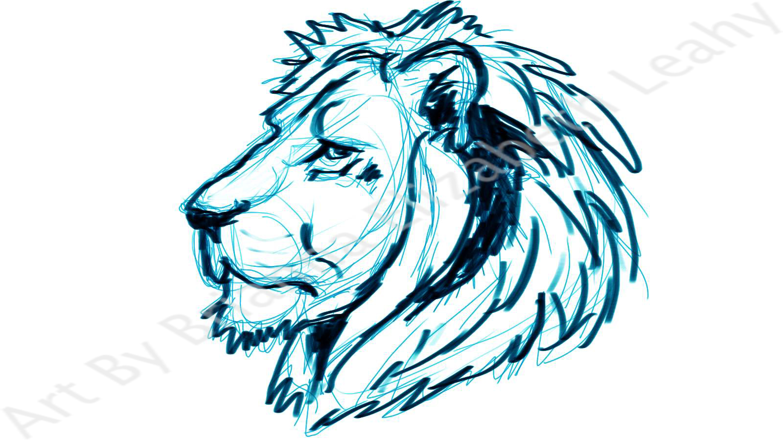 Simple Lion Head Drawing at GetDrawings.com | Free for personal use ...