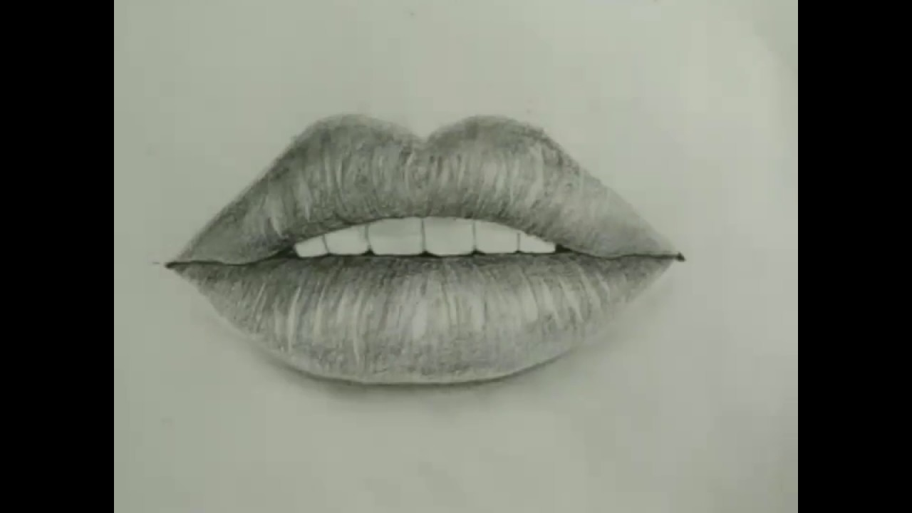 1280x720 How To Draw Easy And Simple Realistic Lips For Beginners