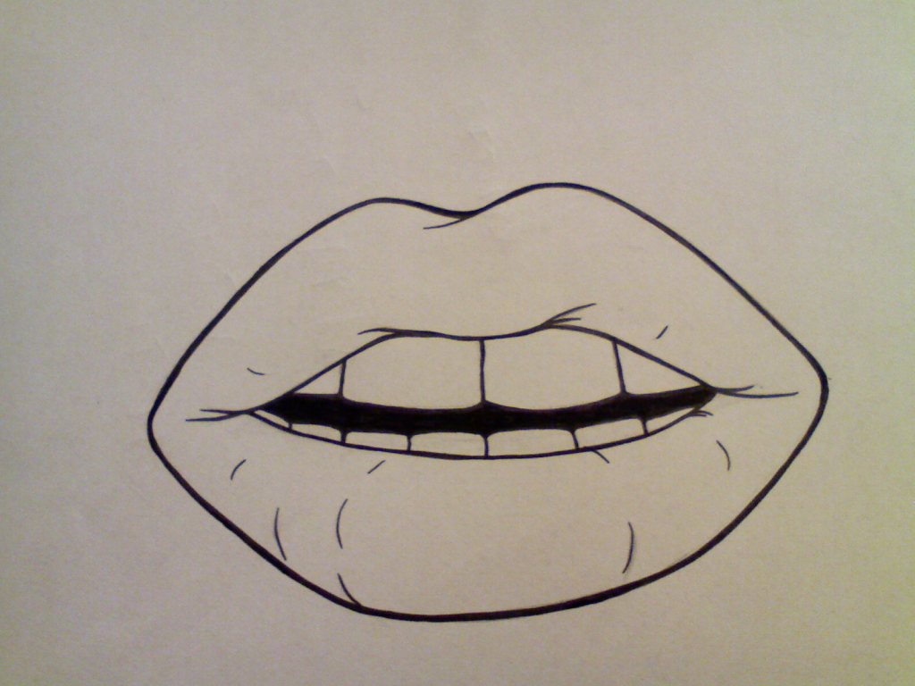 1024x768 Simple Mouth Drawing Best Photos Of Simple Lips Vector Red Lips