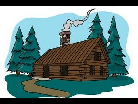 480x360 How To Draw A Log Cabin