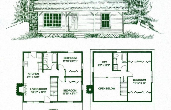 700x450 Simple Log Home Floor Plans With Loft Luxury Small Cabin And House