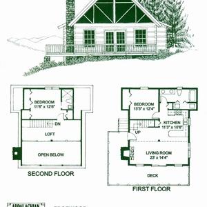 300x300 X Log Cabin Meadowlark Homes Steep Hillside Montana Ranch Cabins