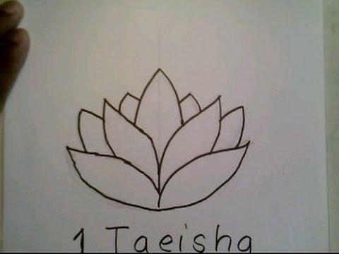 480x360 How To Draw A Lotus Flower Easy Como Dibujar Una Flor De Loto