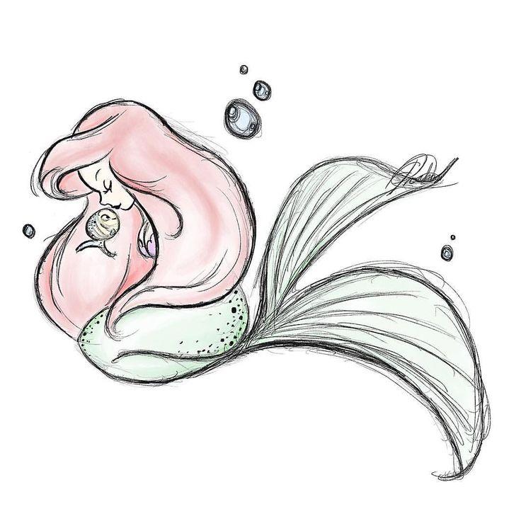Simple Mermaid Drawing At Getdrawings Com Free For