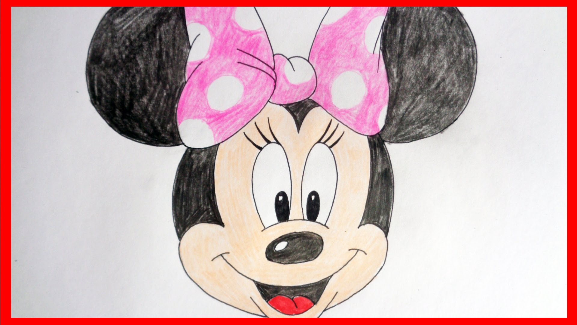 Simple Minnie Mouse Drawing at GetDrawings.com | Free for personal ...