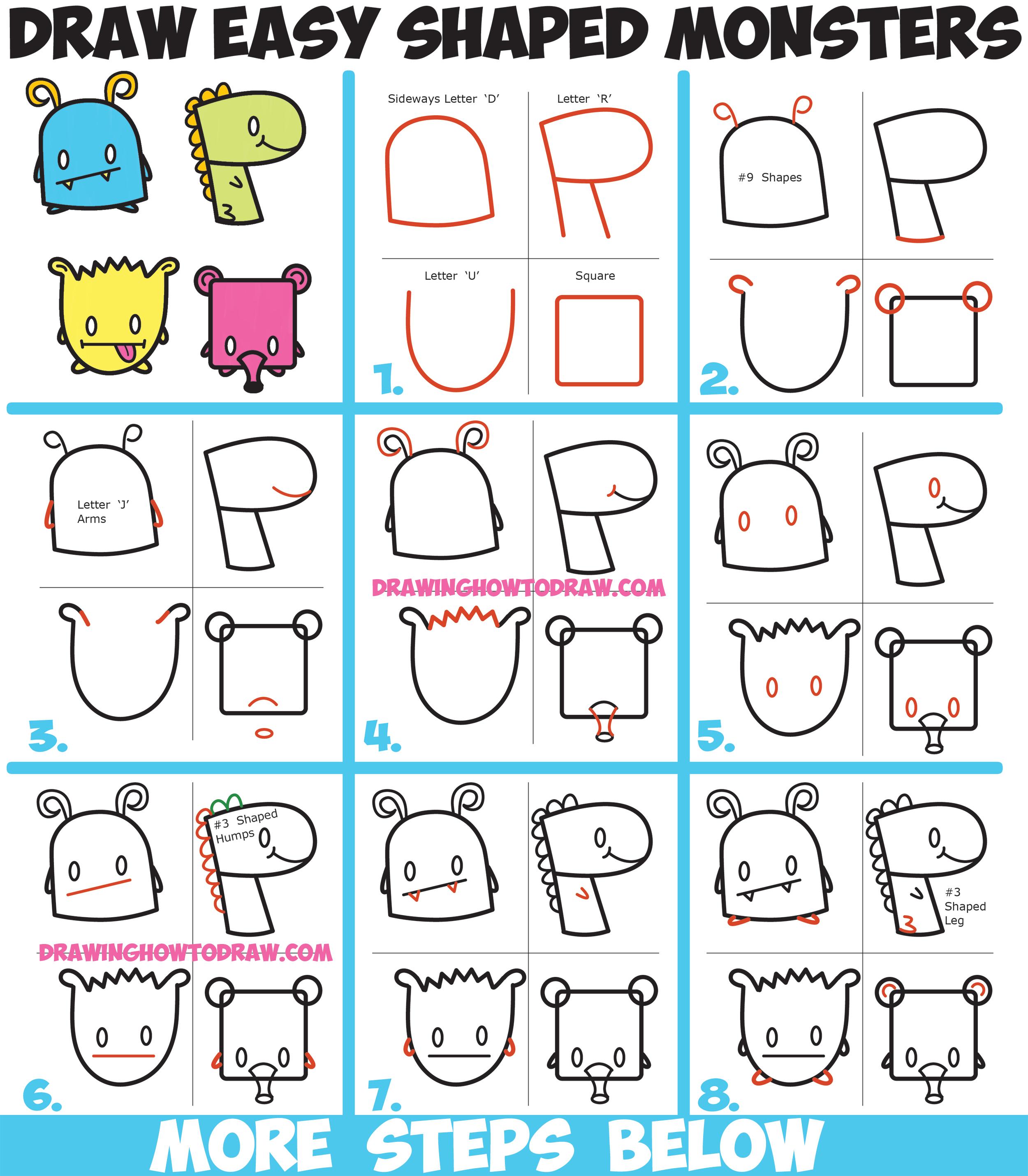 2500x2859 Cartoon Monster Drawings How To Draw Cute Cartoon Monsters