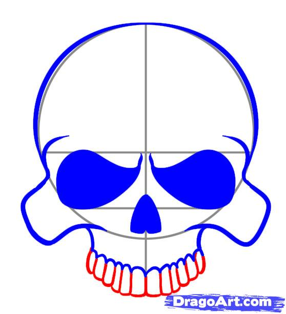 558x613 A Simple Skull Art Techniques Simple Skull
