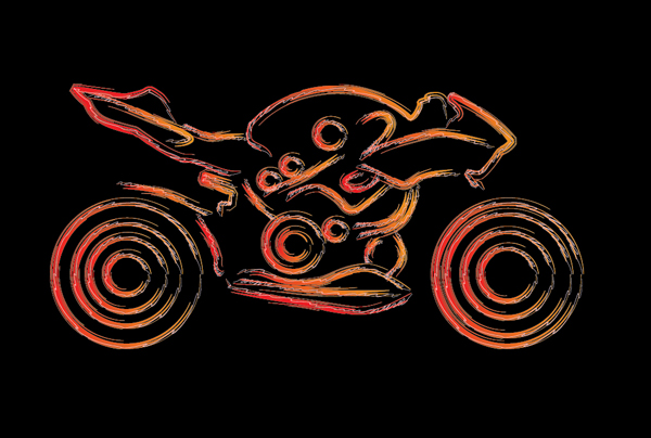 600x404 Quick Tip How To Draw A Stylized Motorcycle With Complex Brushes