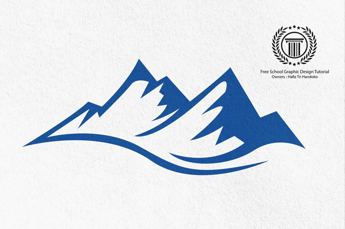 Simple mountain drawing at free for for Draw logo free