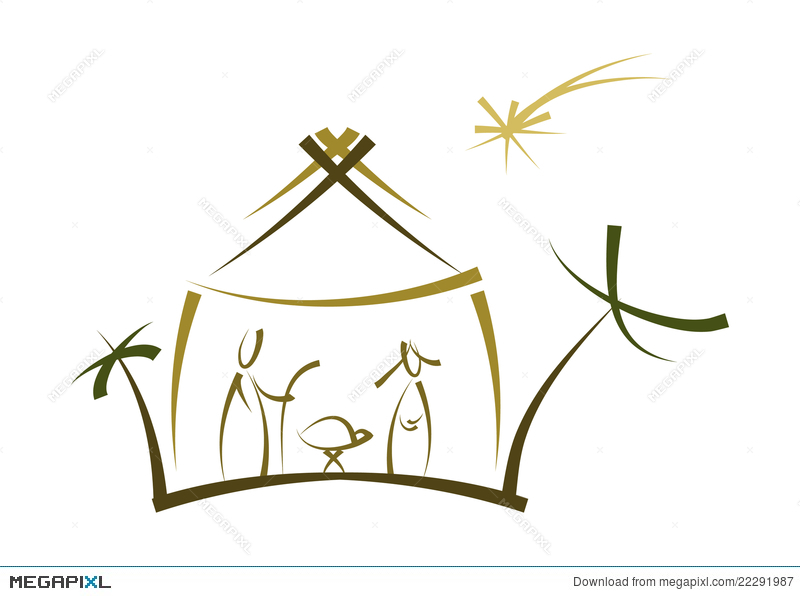 800x596 Abstract Nativity Symbol Illustration 22291987