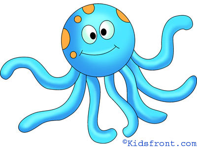 400x300 How To Draw Octopus, How To Draw For Kids, How To Draw Step By