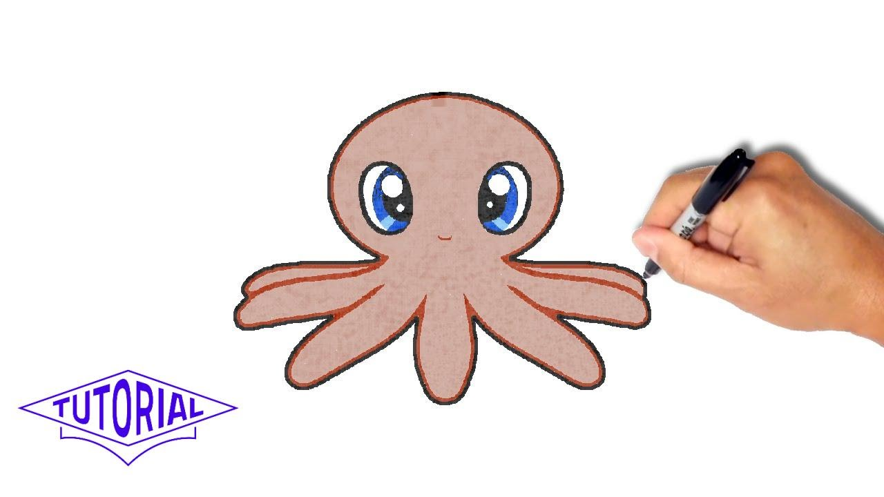 1280x720 How To Draw An Octopus [Simple, Step By Step]