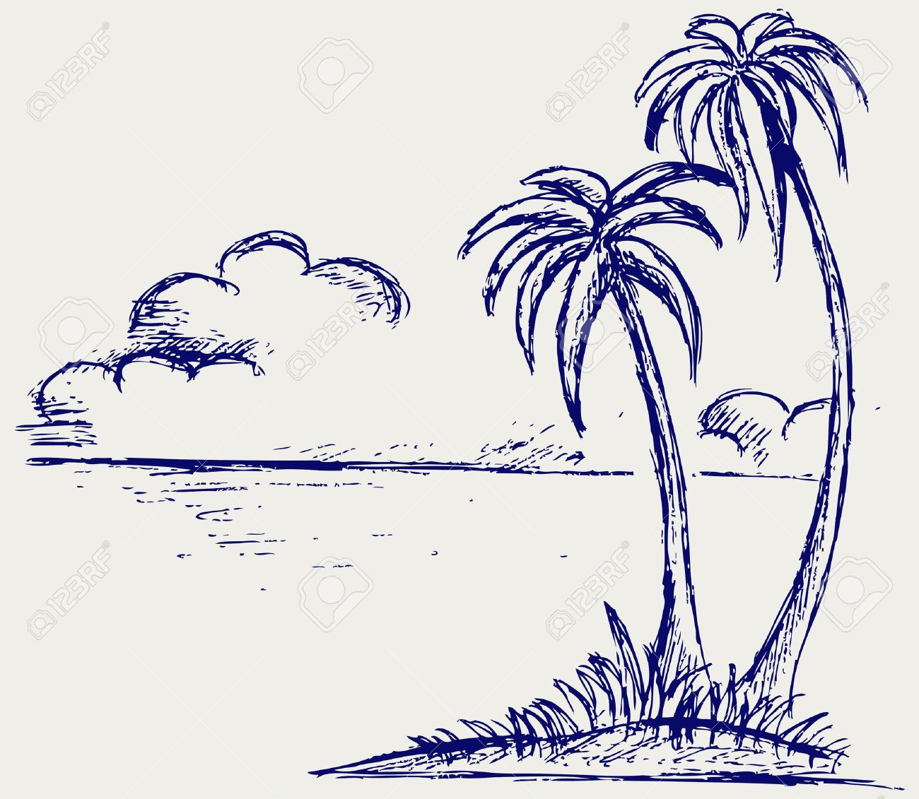 1300x1131 Simple Drawing Of A Palm Tree Simple Line Drawing Stock Photos