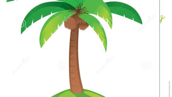 570x320 Simple Palm Tree Drawing Palm Tree Stock Image