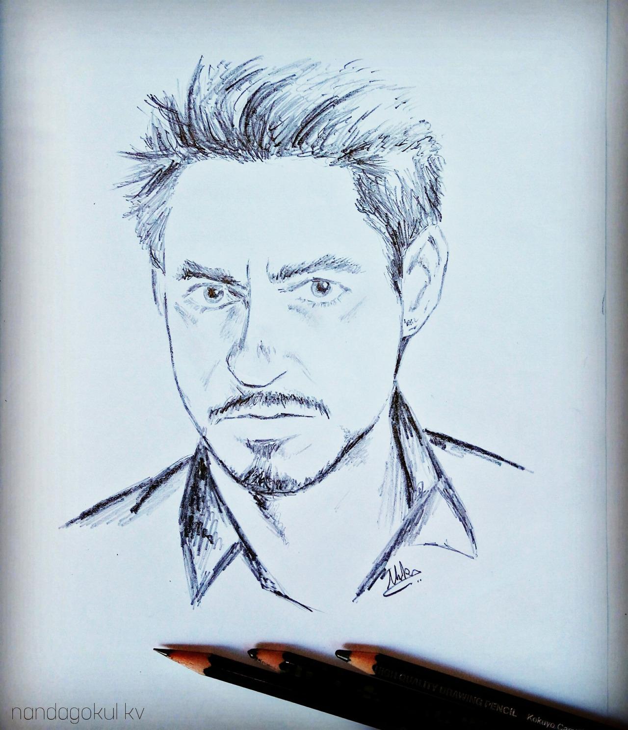 1280x1488 Nandagokulkv Edward (Tony Stark) 2d Simple Pencil