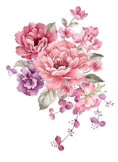 236x325 Watercolor Illustration Flower In Simple Background Tattoo'S