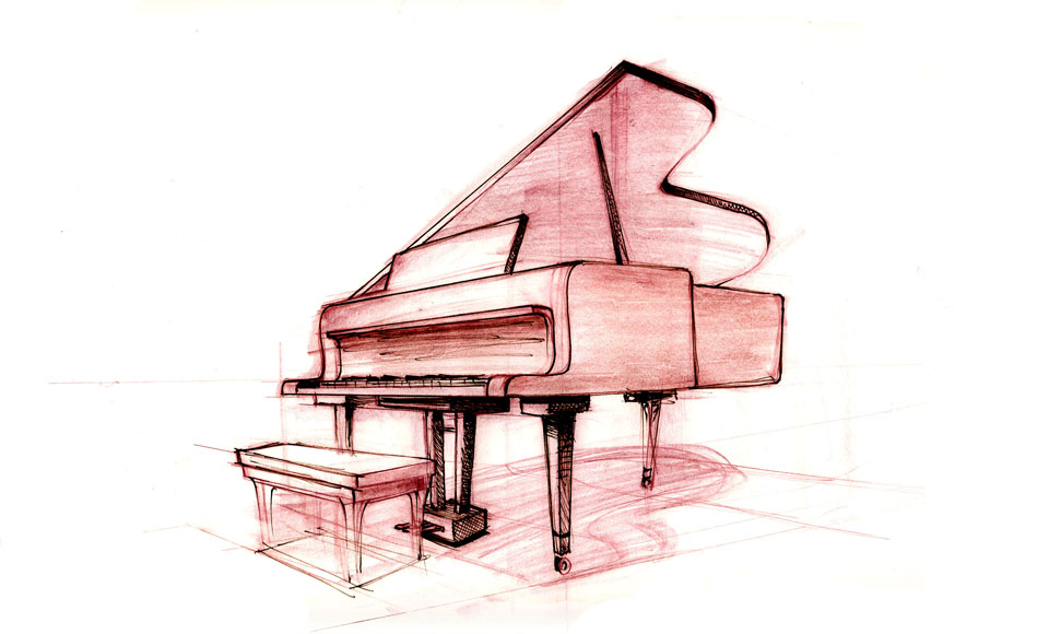 Simple Piano Drawing at GetDrawings.com | Free for personal use ...