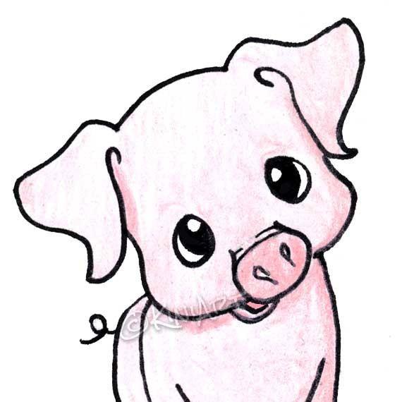 570x570 Yittle Piggy Aceo Matted Original Art Pig Ebsq Originals, Etsy