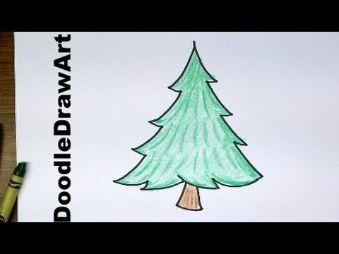 480x360 Drawing How To Draw Cartoon Pine Trees