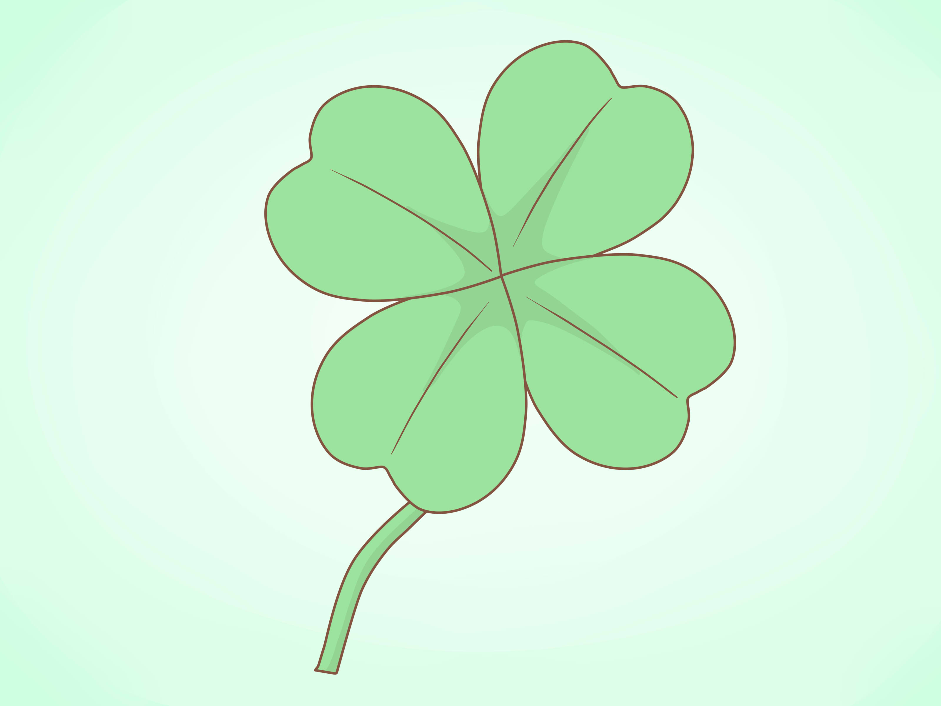 3200x2400 How To Draw A Clover 11 Steps With Pictures