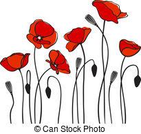 205x194 Flower Poppy Plant Nature Vector Paintings Illustration Stock