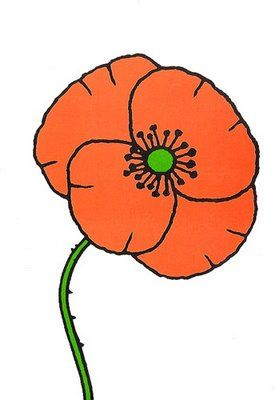 275x400 Simple Drawing Of A Poppy Art Simple Drawings