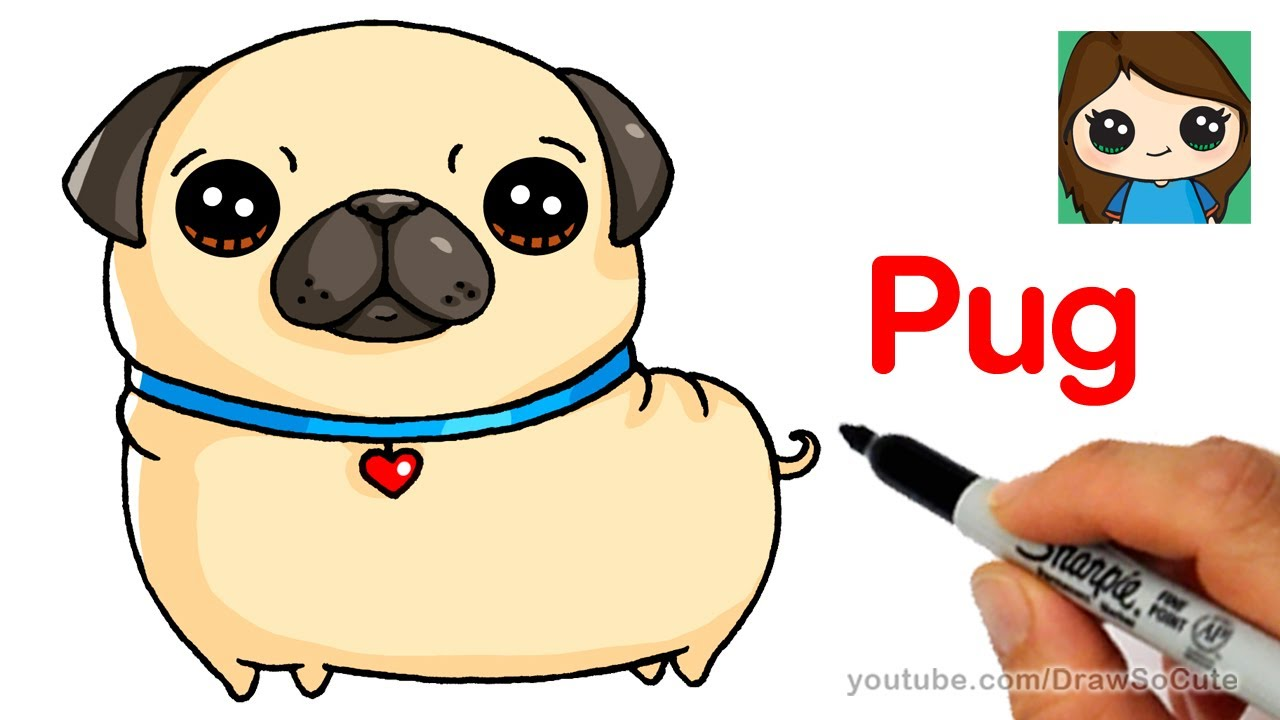 1280x720 How To Draw A Pug Easy
